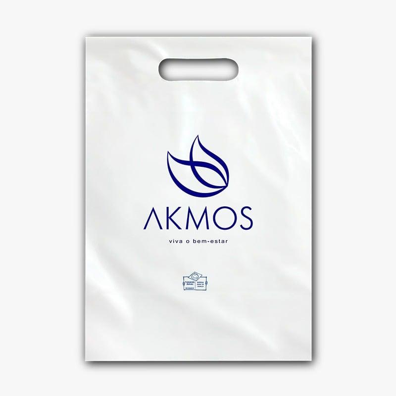 SACOLA PLASTICA BASIC BRANCA AKMOS M Akmos