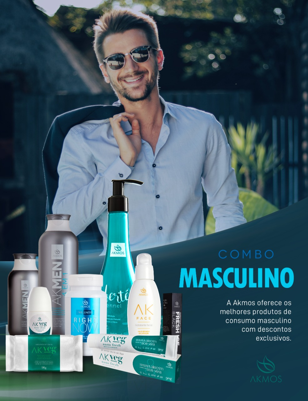 COMBO CONSUMO INTELIGENTE MASCULINO  - FRESH ICE AROMATIZANTE BUCAL BLACK 15ML Akmos
