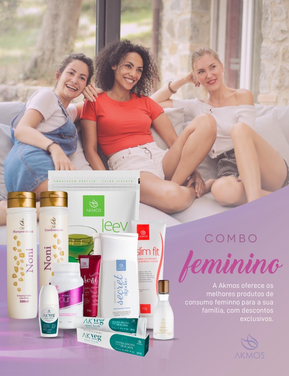 COMBO CONSUMO INTELIGENTE FEMININO  - SECRET SABONETE LIQUIDO CORPORAL ALGODAO 150ML Akmos