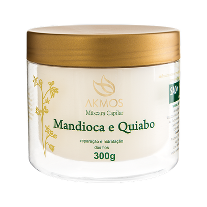 MANDIOCA E QUIABO MASCARA CAPILAR 300G Akmos