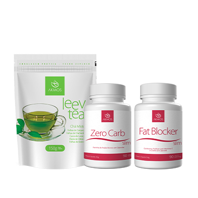 COMBO FAT BLOCKER   ZERO CARB   LEEV TEA Akmos